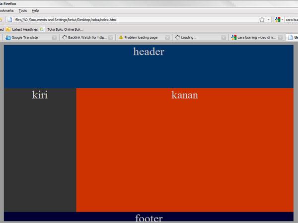 Membuat halaman web sederhana dengan html dan css   Blog